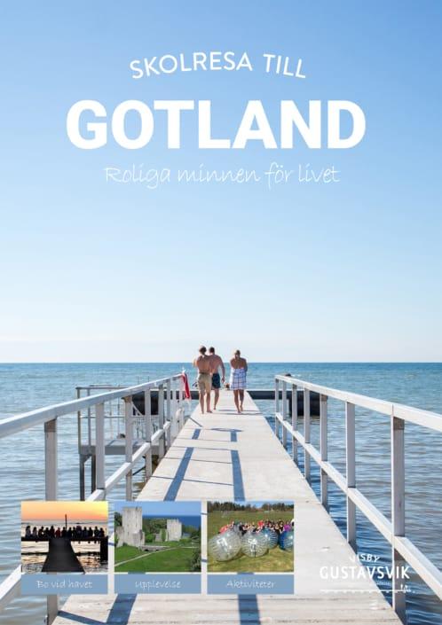 Folder klassresa till Gotland